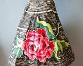 1950s Madalyn Miller Vintage Circle Skirt Vintage Rose Rhinestones and Sequins Original Estate Sale Fresh