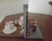 miniature Easter in and out room scene