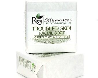 Troubled Skin Facial Soap (Tea Tree, Green Clay)