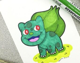 Bulbasaur Pokemon Original Art