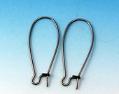 Long Kidney Earwire, Stainless Steel, 30 MM, Nickel Free, 12 Pieces. SS16