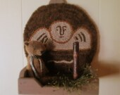 Primitive Tombstone Angel Chair Pad