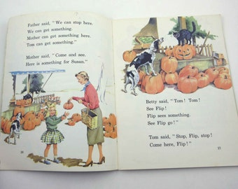 My Little Green Story Book  Vintage 1950s or 1960s Children's School Reader or Textbook with Halloween by Ginn and Co.