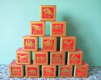 Unusual Set of Vintage Wooden Blocks 15 Humorous and Weird Building Blocks