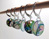 Stitch markers for Knitting or Crochet, Abstract Rainbows