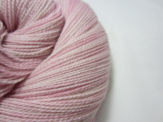 Seashell Pink - Dyed to Order - Hand Dyed - Merino Wool Yarn - Fingering Weight