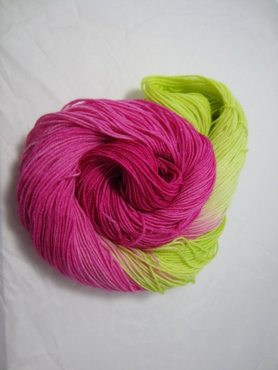 Flower Burst - Dyed to Order - Hand Dyed - Merino Wool Yarn - Fingering Weight