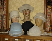 9 Vintage Millinery Hat Bases / Forms Ready to be Decorated #6