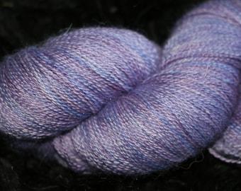 Hand dyed Baby Alpaca/Silk Laceweight