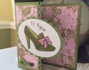 En Vogue Shoe Birthday Card