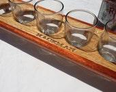 Custom Engraved Beer Flight, Beer Sampler, Engraved Beer Caddy, Personalized Gift, Beer Lover - Groomsman - Bridesmaid - Mancave