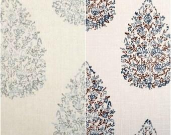 Custom John Robshaw Kedara Drapes You pick the fabric and style - Lined
