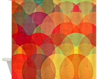 Kaleidoscope Modern Multicolor Shower Curtain