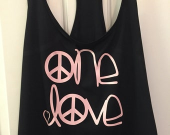 One Love Tank -Bob Markey inspired tank