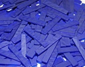 40 2 Inch Cobalt Ripple Blue Tumbled Border Stained Glass Mosaic Tiles