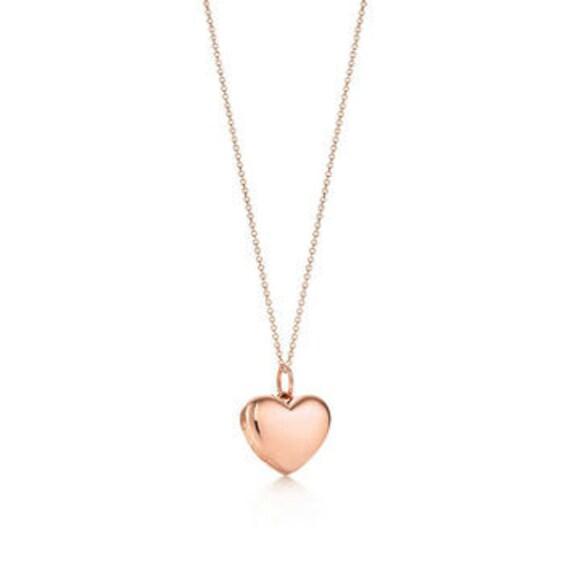Rose Gold Vermeil Puffed Heart Charm