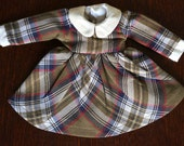 something in the way vintage plaid dress for blythe dolls