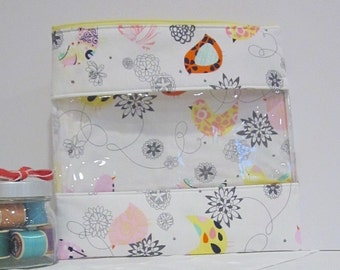 Starling Window XL Zip Bag Pouch Needlecraft Toiletries Stationary Card Storage
