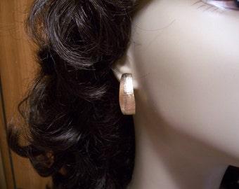 Vintage Post Hoop Earrings