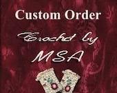 Crochet Poinsetta Ring Doilies Custom Order for JoAnn jojo46