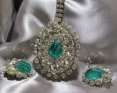 Vintage DeLizza & Elster Juliana Necklace Flawed Emerald
