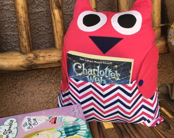 Owl Be Your Book Buddy (Hot Pink and Navy)