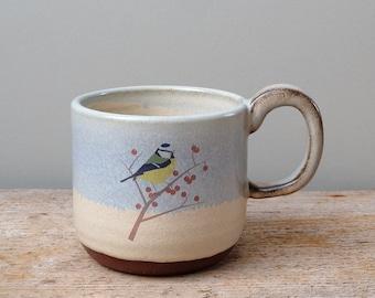 Rustic Blue Tit Mug