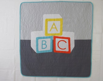 Baby Blocks quilt - REDUCED