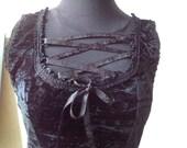 RESERVED FOR RENATE L. Elegant black dress size M/L, Monogatari, Second Hand