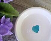 Spoon Rest - Caribbean Blue Heart - Kitchen - Housewares - Kitchen Decor -Teaspoon Rest -Tea Bag Holder-Ready to Ship