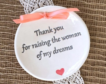 Thank you for Raising Mother of the Bride Gift OR Mother of the Groom Gift, Parents Wedding Gift,Wedding Gift for Mothers,Personalized