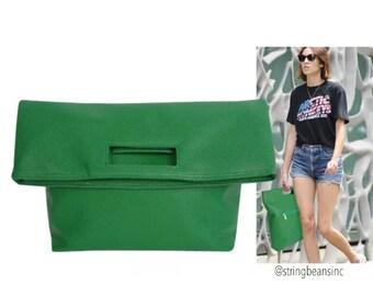 Leather Clutch Envelope Handbag SUPERDEAL