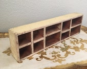 Shadow Box Wooden Drawer Divided
