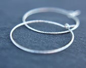 Color choices - hoop earrings - everyday earrings - delicate hoops - rose gold - yellow gold - sterling silver - thin hoops