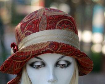 Womens 20s Hats, Trendy Boho Style Hat, Cloche Hat, Downton Abbey Style Hat, Flapper Hat, Winter Hat
