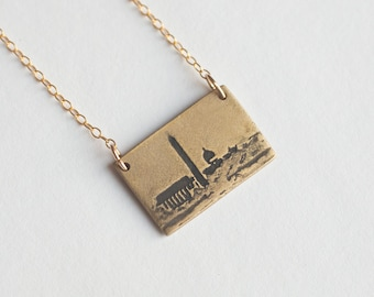 Washington DC Necklace - Washington Jewelry - City Necklace - DC Skyline - District of Columbia - Washington Monuments - Hometown