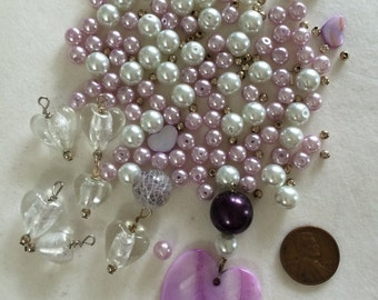 Purples and Pearl beads