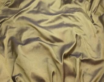 Textured GOLD BLUE Silk DUPIONI Fabric - fat 1/4
