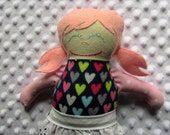 June Small Handmade Fabric Baby Doll