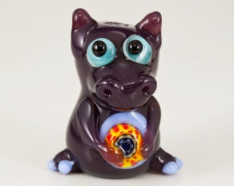 Purple Dragon Lampwork Glass Bead