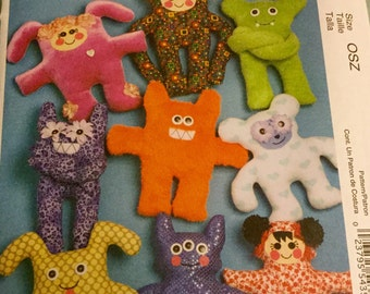 McCalls 5826 Wacky Creatures Toy 9 Different Dolls, Uncut New Condition