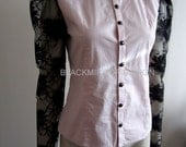 Victorian style blouse shirt only one available SALE Fits S to M