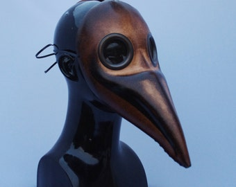Light Brown Doctor Plague Leather Mask, Party Fancy Dress, Re-enactment etc