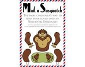 "Sasquatch Postcards, Set of 8 ""Mail a Sasquatch"" Postcards"