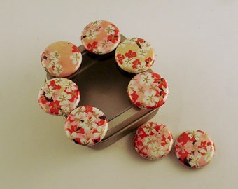 Set of 8 Button Magnets  Refrigerator Magnets in Haiku with Storage Tin (BMT117)