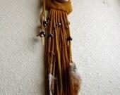Frigg's satchel - handmade deerskin drawstring pouch