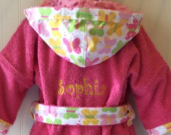 Girls-Robes-Pink-Butterfly-Beach-Children-Hooded-Bathrobes-Spa-Terry-Swim-suit-Cover-Up-Baby-Kids-Toddler-Teen-Birthday-Party-Gifts