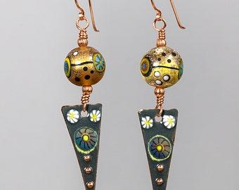 Handmade Lampwork Earrings by BluDragonfly SRA - Lampwork Earrings