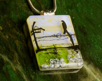 Fused Glass Pendant by BluDragonfly SRA - Fused Glass Pendant