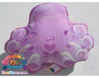 Kawaii Universe - Cute Purple Octopus - Handcrafted - Designer Plush Pillow